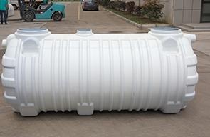 Principle of three compartment septic tank